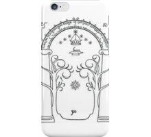 The door of Durin iPhone Case/Skin