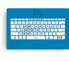 Photoshop Keyboard Shortcuts Blue Canvas Print