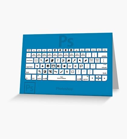 Photoshop Keyboard Shortcuts Blue Greeting Card