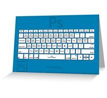 Photoshop Keyboard Shortcuts Blue Tool Names Greeting Card