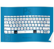 Photoshop Keyboard Shortcuts Blue Cmd Poster