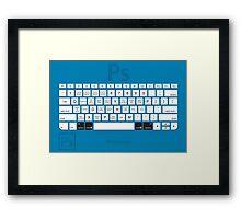 Photoshop Keyboard Shortcuts Blue Opt+Cmd Framed Print