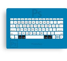 Photoshop Keyboard Shortcuts Blue Opt+Cmd Canvas Print