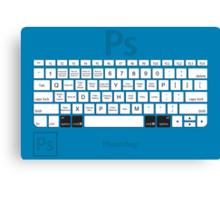 Photoshop Keyboard Shortcuts Blue Opt+Cmd Canvas Print