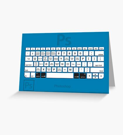 Photoshop Keyboard Shortcuts Blue Opt+Cmd Greeting Card