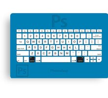 Photoshop Keyboard Shortcuts Blue Opt Canvas Print