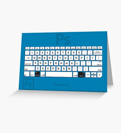 Photoshop Keyboard Shortcuts Blue Opt Greeting Card