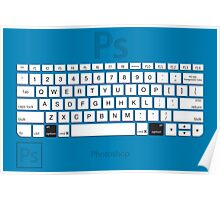 Photoshop Keyboard Shortcuts Blue Opt Poster