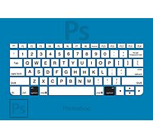 Photoshop Keyboard Shortcuts Blue Opt Photographic Print