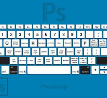 Photoshop Keyboard Shortcuts Blue Opt+Shift by Skwisgaar