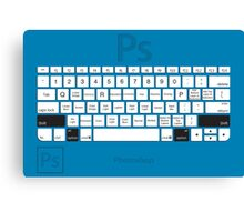 Photoshop Keyboard Shortcuts Blue Opt+Shift Canvas Print