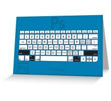 Photoshop Keyboard Shortcuts Blue Opt+Shift Greeting Card