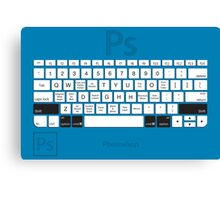 Photoshop Keyboard Shortcuts Blue Opt+Shift+Cmd Canvas Print