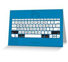 Photoshop Keyboard Shortcuts Blue Opt+Shift+Cmd Greeting Card
