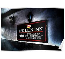 Red Lion Inn Sign Poster