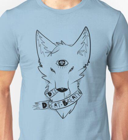 Ribbon Fox in black Unisex T-Shirt