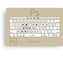 Photoshop Keyboard Shortcuts Brwn  Canvas Print
