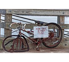 Bicycle For Sale Photographic Print