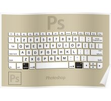Photoshop Keyboard Shortcuts Brwn Opt Poster