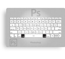 Photoshop Keyboard Shortcuts Metal Canvas Print