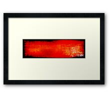 Tones of Red Framed Print
