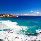 bondi beach view, sydney australia by faithie