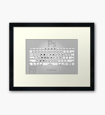 Photoshop Keyboard Shortcuts Metal Framed Print