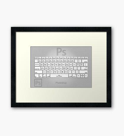 Photoshop Keyboard Shortcuts Metal Tool Names Framed Print