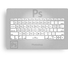 Photoshop Keyboard Shortcuts Metal Tool Names Canvas Print