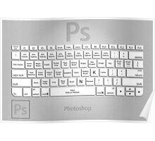 Photoshop Keyboard Shortcuts Metal Tool Names Poster