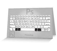 Photoshop Keyboard Shortcuts Metal Opt+Cmd Greeting Card
