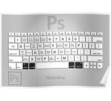 Photoshop Keyboard Shortcuts Metal Opt+Cmd Poster