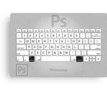 Photoshop Keyboard Shortcuts Metal Option Canvas Print