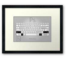 Photoshop Keyboard Shortcuts Metal Opt+Shift Framed Print