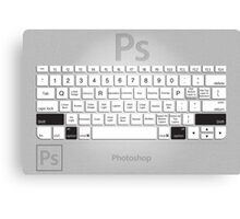 Photoshop Keyboard Shortcuts Metal Opt+Shift Canvas Print