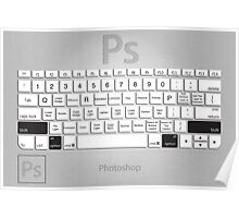 Photoshop Keyboard Shortcuts Metal Opt+Shift Poster