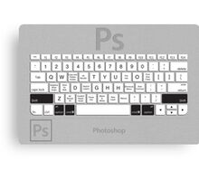 Photoshop Keyboard Shortcuts Metal Opt+Shift+Cmd Canvas Print