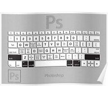 Photoshop Keyboard Shortcuts Metal Opt+Shift+Cmd Poster