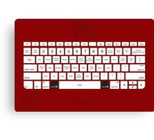 Photoshop Keyboard Shortcuts Red Cmd Canvas Print