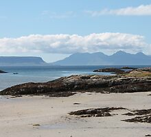 Eigg and Rhum from Arisaig by Pat Millar