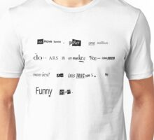 The Big Lebowski Bunny ransom letter Limited Edition Print Unisex T-Shirt