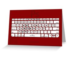 Photoshop Keyboard Shortcuts Red Cmd Greeting Card