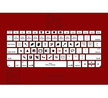 Photoshop Keyboard Shortcuts Red Cmd Photographic Print