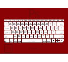 Photoshop Keyboard Shortcuts Red Tool Names Photographic Print
