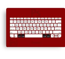 Photoshop Keyboard Shortcuts Red Opt+Cmd Canvas Print