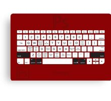 Photoshop Keyboard Shortcuts Red Opt+Shift+Cmd Canvas Print