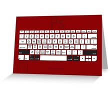 Photoshop Keyboard Shortcuts Red Opt+Shift+Cmd Greeting Card