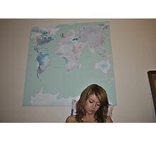 World below Photographic Print