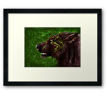 Wolf of the Greensong Framed Print