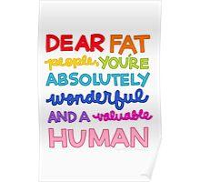 Dear Fat People Poster